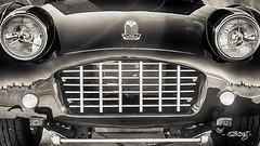 Triumph Grill (dougkuony) Tags: coffeecruise hdr triumph auto automobile automotive bw blackwhite blackandwhite car darkgreen mono monochrome sepia