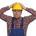 fassungsloser Bauarbeiter