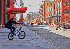 He Has Risen (tacosnachosburritos) Tags: chicago west loop fulton market district windy city urban thestreets street photography bmx bikes biker gritty boys