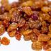 Fresh raisins close-up