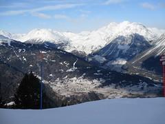 The View from the Slopes (gwackamo) Tags: bormio italy alps skiing snow ski blue slope