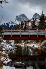 Three Sisters Parkway in Canmore, Alberta (jake.jens.hansen) Tags: canmore banff alberta canada mountains winter river bridge alpine nationalpark canadianrockies