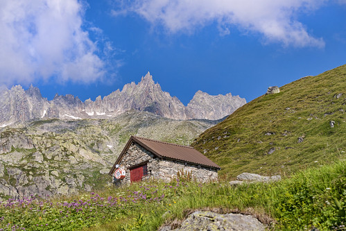 A hut in the mountains