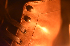 Thursday Boots - The Captain (Mikon Walters) Tags: thursday boots captain natural colour lighting candle light lit candlelit nikon d5600 sigma 105mm macro lens photography low glowing glow leather shoes laces eyelets patina