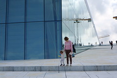 Oslo Opera House, Norway (Josh Khaw) Tags: mother child modern architecture oslo norway glass sky