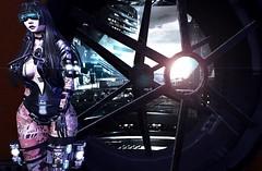 Utopic_Sunrise:1.0 (黒い太陽 (Alora Ascot)) Tags: genus sunrise utopic secondlife science fiction cyborg maitreya futuristic babyface yakuza cyber dappa theforge tattoo solesa sole monso