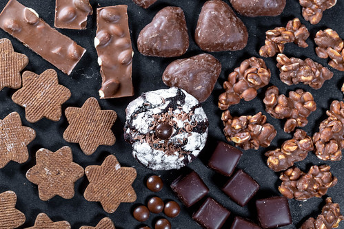 Collection of different chocolate sweets