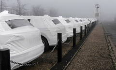 Gift wrapped cars (2 of 6) (+Pattycake+) Tags: lumixdmcg1k trowse frost mist lumix uk mirrorless norfolk norwichuk audi outdoor colour