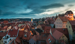 above the roofs of Meissen (mad_airbrush) Tags: 5d 5dmarkiii canon 1740mm ef1740mmf4l landscape langzeitbelichtung landschaft urban city citylights evening bluehoure blauestunde meissen deutschland saxony sachsen germany hdri panorama hdripanorama