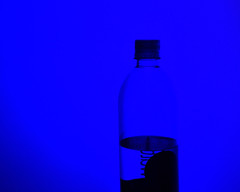 WaterBottleSilhouette (McLeodGrass) Tags: blue silhouette cool shdow shadow