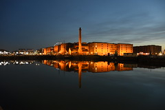 Albert Dock Liverpool 21st February 2019 (loose_grip_99) Tags: albert dock riverfront mersey night nighttime water mooring chimney merseyside liverpool lancashire reflections docks february 2019