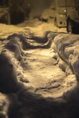 Street (Luca Angelini) Tags: monaco munich neve snow backlight controluce foglie ghiaccio ice leaf light luci night notte silhouette