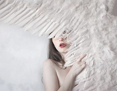 Not about angels (Sus Blanco) Tags: portrait angel wings white fineart conceptual canon