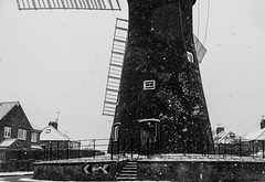 Holgate Windmill in snow, February 2019 - 05