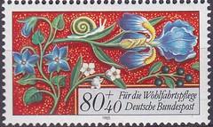 Deutsche Briefmarken (micky the pixel) Tags: briefmarke stamp ephemera deutschland bundespost wohlfahrtsmarke bordüre edging blume flower schnecke snail