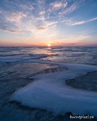 Favourite Lens Contest 1 (burntpixel.ca) Tags: canada manitoba lake winnipeg photo photograph rural fine art patrick mcneill burntpixel beautiful amazing landscape sony a7r2 a7rii sonya7r2 voigtlander 15mm lens wide wideangle snow winter frozen sunset sunrise shape s curve sky clouds