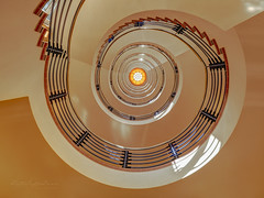 Up and down the stairs (Karsten Gieselmann) Tags: 714mmf28 architektur brahmskontor braun em5markii exposurefusion farbe germany mzuiko microfourthirds olympus orange treppe architecture brown color kgiesel m43 mft staircase stairs hamburg deutschland