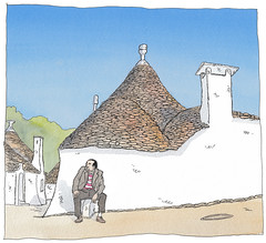 Italy, Puglia, Alberobello (pirlouit72) Tags: italie italy puglia alberobello sketch drawing dessin croquis urbansketch urbansketcher urbansketchers carnetdevoyage trulli