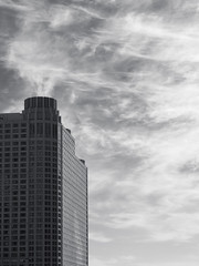 Vortex (Nick Condon) Tags: architecture building chicago clouds olympus45mm olympusem10 sky absoluteblackandwhite olympus