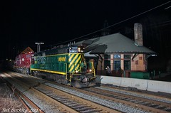 Putting Your Long Hood Forward (TBockley) Tags: night station andover massachusetts newhampshirenorthcoast gp18 train freight bostonmaine