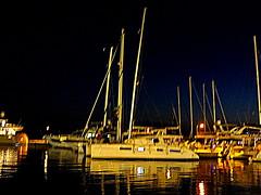 Marina At Night (dimaruss34) Tags: newyork brooklyn dmitriyfomenko image sky skyline sunset clouds greece naxos night nightsky marina boats yachts reflections water