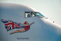 Captain CoolShades..... (Alan Partridge Aha) Tags: ed f4 mf manualfocus f4p 500mm d4 nikon aircraft barbarella gvrom plane jet jumbo 747400 lgw gatwick cockpit 747 boeing