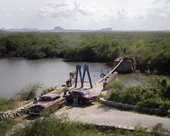 Remnants of a collapsed bridge, as observed from Carr Gibara. (Gerald Lau) Tags: holguin cuba 2019 bridge carrgibara gibara nikon175528