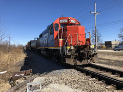 CN at Spaulding Street Along Great Lakes Naval Base North Chicago IL March 25 2019 (Tom J. Burke) Tags: eje cn northchicago lakebluff railroad train