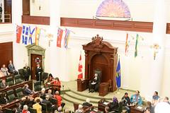 031819LAO_Chamber Unveiling046 (LegAssemblyofAB) Tags: alexjanvier indigenousart art legislativeassemblyofalberta legbuilding legislativeassembly legislature ableg alberta albertaart