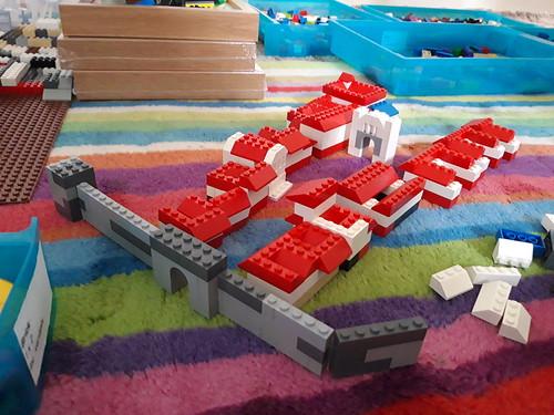 Lego Pompeii, with working Vesuvius.