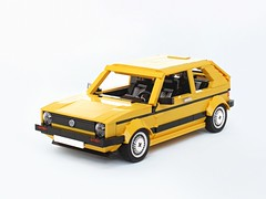 Yellow Golf Mk1 (BuildMe) Tags: lego creator moc car vehicle volkswagen vw