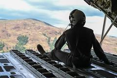 Cpl. Emilia Hamilton looks out from the back of a KC-130J Super Hercules aircraft. (#PACOM) Tags: vmgr kc130j balikatan indopacom partnership allies shouldertoshoulder afp adf usa integration philippines ph