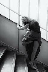 Dance All Days (sdupimages) Tags: blackwhite noirblanc noiretblanc oman femme dancer danseuse dance stairs escaliers nb bw monochrome bella beauty