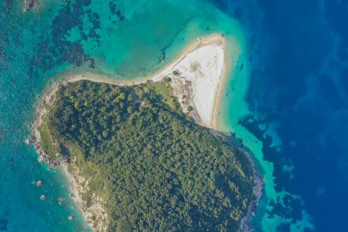 Aerial of Marathonisi Zakynthos Greece