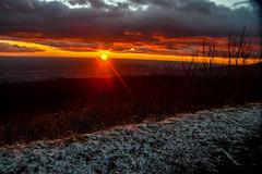 Another Sunrise on Skyline Drive (Beangrau12) Tags: sunrise skylinedrive virginia snow clouds colorfullandscape clearingclouds nikon3200 tamron16300mm