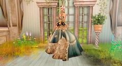 irrISIStible DUST SPRING (Lichy L0ve) Tags: backdrop sl secondlife fantasy spring photo irrisistible shop garden flowers roses ivy plant grass victorian window pose decor scene curtains mesh furnitures home dust gown dress women woman outfit accessories clothes template silk lace romantic marquise collar necklace bangle hairs headpiece maitreya sofia belleza hourglass slink flower