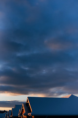 Sunset rooftops (tyle_r) Tags: wisconsin january vscofilm hobart 2019 iphoto snow