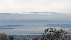 Blue Day (Melinda * Young) Tags: blue goldengate bridge cloudy layers seascape west pacific