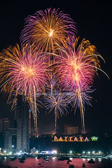 Pattaya's Countdown 2019 Fireworks. (baddoguy) Tags: 2019 arts culture entertainment awe beach party brightly lit celebration ceremony chonburi province city color image countdown exploding firework display flash happiness hope concept international landmark joy landscape scenery light effect local long exposure majestic midnight multi colored national new years eve night no people orange outdoors social event pattaya photography red sign sky taking off activity thailand urban skyline vertical vibrant yellow