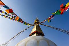 Boudhanath Stupa (Anderson Porfírio - Fotografia) Tags: azul sky clearsky buddha buddhism religion asia nepal kathmandu architecture architectural stupa boudhanath boudhanathstupa landmark monument