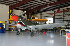 NL977WH (55) Curtiss Wright P-40N Warhawk United States Air Force 'American Dream' Nose On Kissimmee Municipal 25th October 2018 (michael_hibbins) Tags: nl977wh 55 curtiss wright p40n warhawk united states air force american dream nose on kissimmee municipal 25th october 2018 n america usa us untied