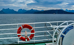 safety first (werner boehm *) Tags: wernerboehm lofoten ferry norway seascape mountains