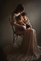 (Eva White Photography) Tags: woman breastfeeding elegant twins boys motherhood mommy mum kids children nursing studio portrait natural