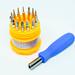 A mini screwdriver set on white background