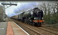 LNER A1 Pacific No. 60163 'Tornado' at Prudhoe - 1st March 2019 (allan5819 (Allan McKever)) Tags: lner a1 pacific 462 green loco locomotive engine steam 60163 tornado testrun prudhoe northumberland uk england tynevalley train rail railway heritage station travel transport mainline 5z65