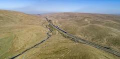 66718 gets the road at Blea Moor (robmcrorie) Tags: settle carlisle 1z10 railway blea moor signal box semaphore 66718 arrow quarry pendleton phantom 4