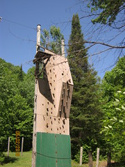 CLIMBING WALL (bitemeasshole69) Tags: kinarkoutdoorcentre minden ontario canada lakes water outdoors wilderness nature specialneedscamp autismontario activities freshair upnorth northernontario camping respite fun exhilirating hwy35 counsellors scenic picturesque calming serene peaceful landscape wildscape coniferous deciduous trees nativetrees foliage underbrush lush canadianwilderness spring2018 green bugs insects