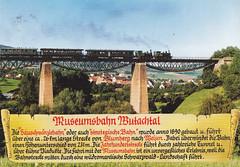 Postkarte / Deutschland (micky the pixel) Tags: postkarte postcard ephemera deutschland germany wutachtal blumberg fützenerviadukt wutachtalbahn museumsbahn dampflokomotive schwarzwald badenwürttemberg