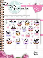 Kawaii Cupcake Stickers Cute Baboo Stickers Sweets Stickers Planner Stickers Erin Condren Functional Stickers Decorative Stickers NR786 by EmelysPlannerShop (emelysplannershop.com) Tags: planner stickers icon accessories functional daily agenda organizer live emelysplannershop