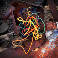 Junction Box (arbyreed) Tags: arbyreed box junctionbox wires colorful oldjunctionbox vintage abandoned machine miningmachine frisco